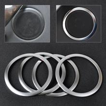 CITALL 4Pcs car-styling Chrome Silver Interior Door Stereo Speaker Sound Trim Cover Ring For BMW 3 Series  F30 F34 320 335 2012