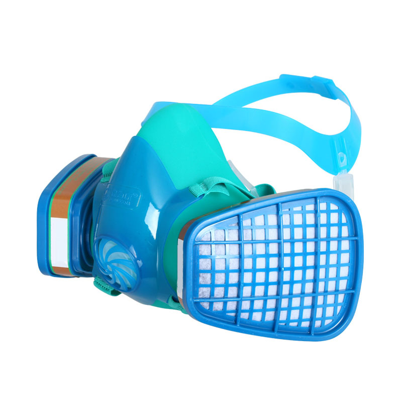 Respirator Gas Mask Safety Comprehensive Full Face Cover Paint Industrial Chemical Anti-Dust Respirator Mask Dustproof Breathing купить