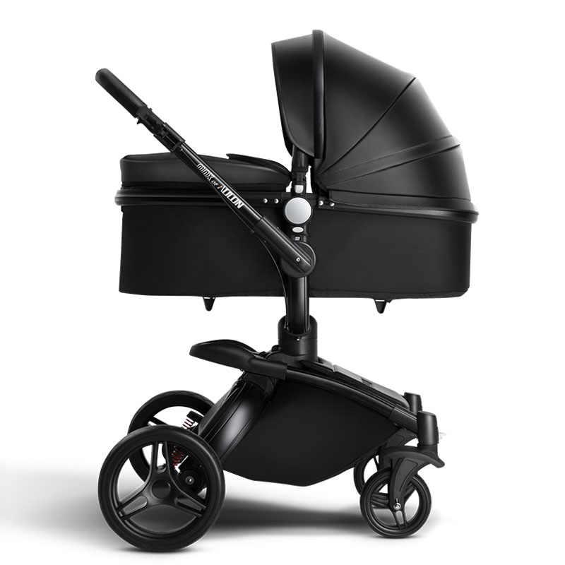 Aulon Kereta Dorong Bayi Gratis Pengiriman Kulit Mewah Kereta Dorong Bayi 2 In 1 Fashion Stroller Eropa Kereta Dorong untuk Berbohong dan Kursi bra