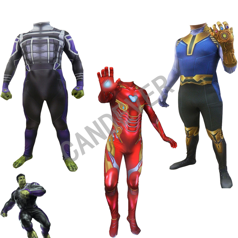 Superhero Banner Zentai Bodysuit Avengers Endgame Hulk Cosplay Tights Costume