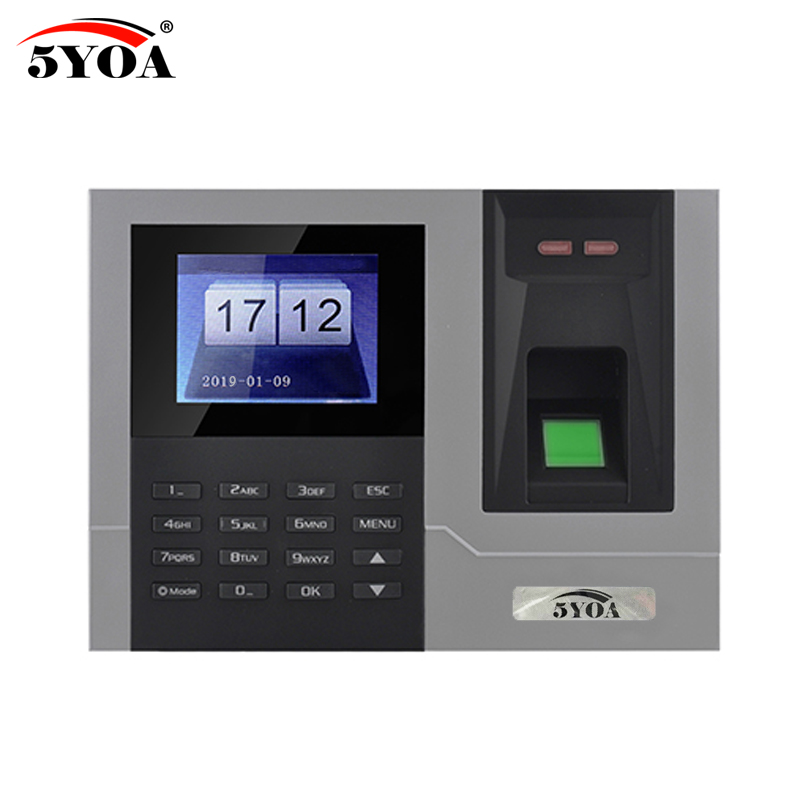 AT608 Tcp IP RJ45 Biometric Fingerprint Time Attendance Clock Recorder Employee Recognition Device Electronic Machine k14 zk biometric fingerprint time attendance system with tcp ip rfid card fingerprint time recorder time clock free shipping