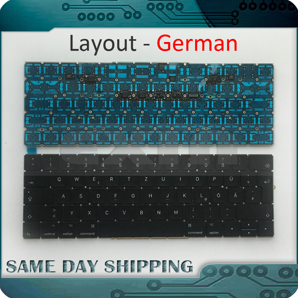 New Laptop Keyboard A1707 German for Macbook Pro Retina 15'' A1707 German Deutsch QWERTZ Tastatur Keyboard Late 2016 Mid 2017 new laptop keyboard for ibm thinkpad e550 e555 e550c e560 e565 french belgian dutch deutsch german swiss turkish us layout