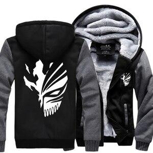 Image 1 - Sweatshirt Anime Bleach Kurosaki Ichigo hoodies 2019 frühling winter verdicken fleece männer der jacke sportswear Casual Zip Up hoody
