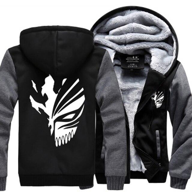 Sweatshirt Anime Bleach Kurosaki Ichigo hoodies 2019 frühling winter verdicken fleece männer der jacke sportswear Casual Zip Up hoody