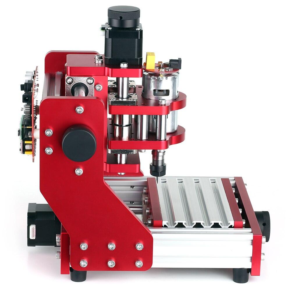 Mini CNC routeur 1310 CNC gravure sur métal fraiseuse Kit PCB bois fraisage Laser Machine graveur avec pince ER11