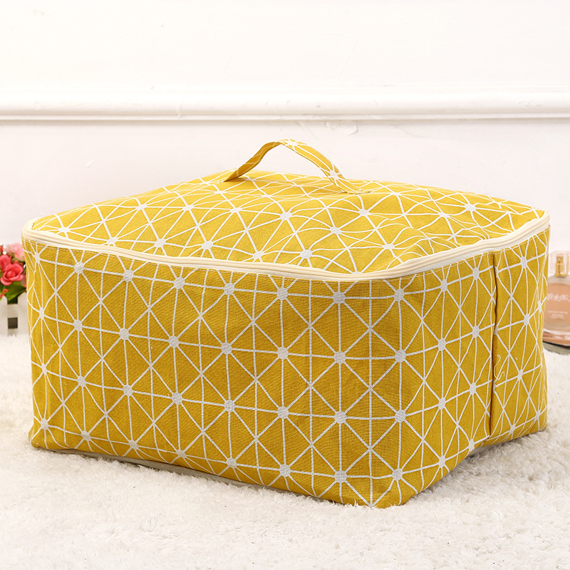 Image 3 - New Organizer Waterproof Portable Clothes Lattice Storage Bag Folding Closet Organizador For Pillow Quilt Blanket Quilt Bag-in Foldable Storage Bags from Home & Garden