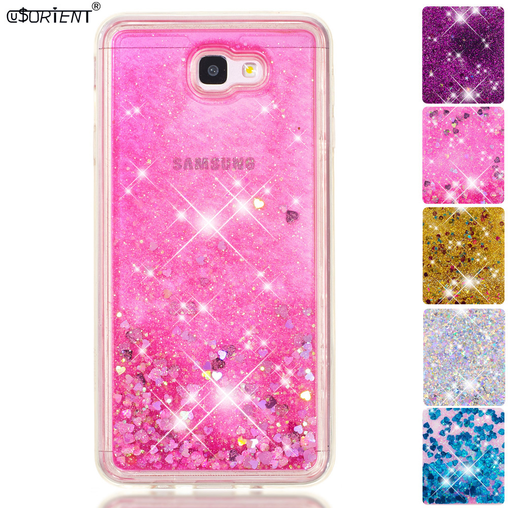 For Samsung Galaxy J7 Prime On7 2016 Bling Glitter Dynamic Liquid Quicksand Phone Case Sm-g610f/ds Sm-g610m Fitted Cover Funda To Win A High Admiration And Is Widely Trusted At Home And Abroad. Phone Bags & Cases Half-wrapped Case