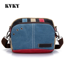 Fantasy sky fashion vintage vogue color block cute patchwork canvas classic waist pack mini small cross-body bag girls wallet
