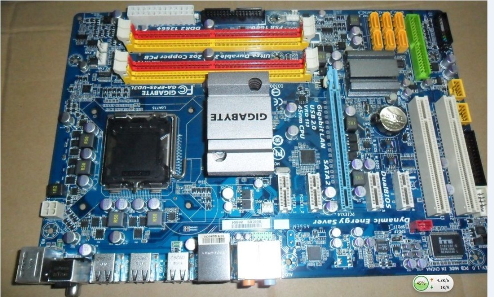 Gigabyte original motherboard GA-EP45-UD3L LGA 775 DDR2 EP45-UD3L boards p45 Desktop Motherboard Free shipping gigabyte ga p67a ud3r b3 original desktop motherboard ddr3 lga1155 4 channels 32gb p67a ud3r b3 p67 motherboard free shipping