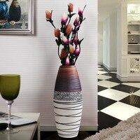 Цзиндэчжэнь керамическая напольная ваза Европейский минималистский современный творческий гостиная домашней обстановки украшения ремес