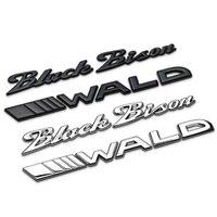 Black Bison WALD Separate Letters Chrome Metal Zinc Car Styling Refitting Emblem Trunk Badge Logo 3D Sticker for BMW Benz Bison