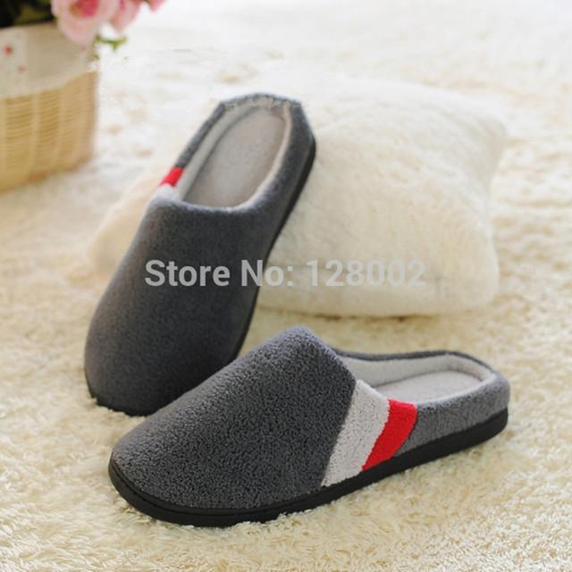 2017 Otoño Invierno de Algodón Acolchado Casa Térmicas Zapatillas Para Los Hombres de Interior \ Piso Regalo Chicos Zapatillas Calientes Zapatos Planos
