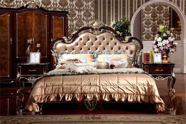 US $1500.0 |luxury classic italian style furniture new classic bedroom  furniture bedroom furniture set-in Beds from Furniture on AliExpress