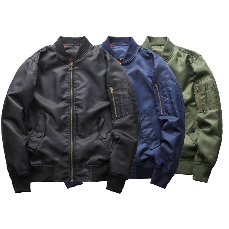 NIBESSER estilo militar masculina chaqueta de bombardero piloto de vuelo chaquetas Moda hombre 4XL más tamaño cremallera Pockert Universidad abrigo