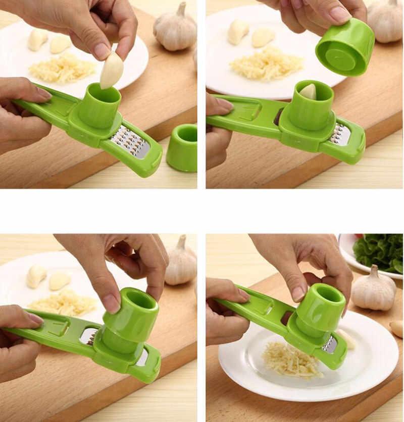 Przydatne wielofunkcyjny imbir wyciskacz do czosnku szlifowania tarka krajalnica Mini Cutter gotowanie gadżety narzędzia akcesoria kuchenne