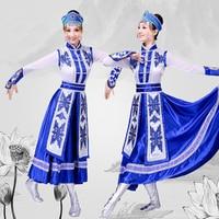 Korean/Mongolian Clothing Women's Inner Mongolia Dance Costumes Ethnic Performance Clothes Mongolian Robes Costumes TB18122