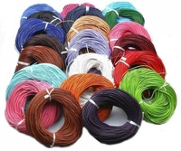 100 Meters bulk Real Leather Rope String Cord Necklace Charms 1.0mm 2.0mm Any Color