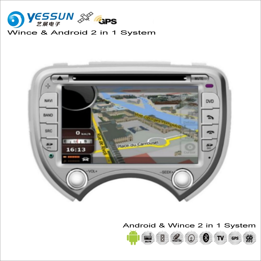 YESSUN For Nissan March / Micra K13 / For Renault Pulse Car Radio CD DVD Player GPS Navigation Wince & Android S160 System