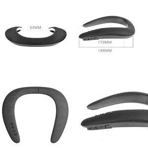 Image 5 - JINSERTA 5D 스테레오 무선 블루투스 스피커 방수 웨어러블 링 넥킹 스포츠 넥 매달려 마이크 블루투스 오디오