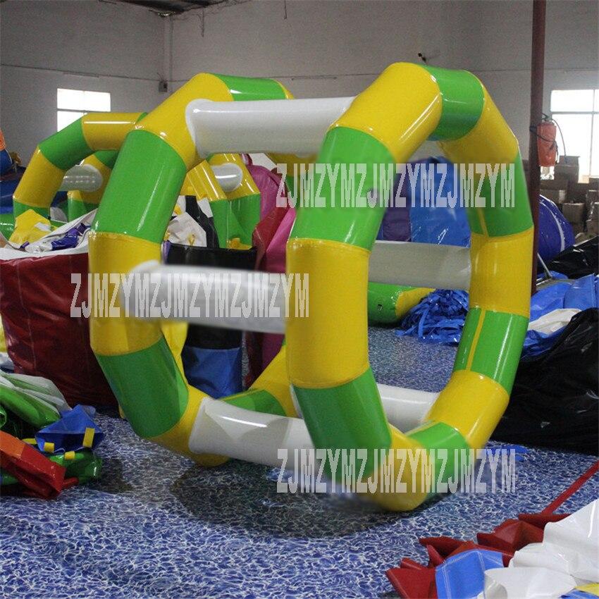 1PC vandens parko žaidimų nuoma Komercinis pripučiamas vandens ratas, vandens pripučiamas ritinėlis su oro siurbliu