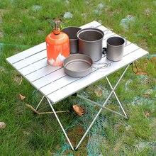 328 promocja składany stół aluminiowy mały Sliver stół kempingowy 3 rozmiar