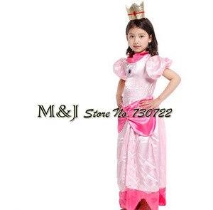 Image 1 - משלוח חינם!! חג המולד ליל כל הקדושים בנות אלגנטי אפרסק נסיכת שמלת קוספליי שלב פסטיבל תחפושות