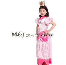 Free shipping!!Christmas Halloween girls elegant peach princess dress Cosplay stage festival costumes