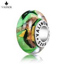 Phantom of the Green River glass beads charms 925 Sterling Silver fit Bracelets & Bangles for Women Jewelry GCLL009-2