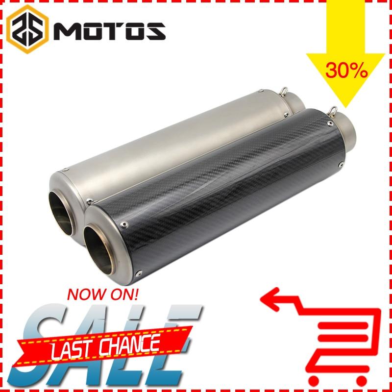 ZS MOTOS 420mm Universal font b Motorcycle b font font b Exhaust b font Muffler Modified