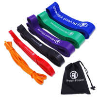 208cm Set of Natural Latex Athletic Rubber Resistance Bands set Gym Expander Crossfit Power Lifting Pull Up Strengthen Muscles