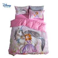 sofia princess bedding set twin size bedclothes full coverlet queen duvet cover for girl bedroom cotton 3d printing home textile