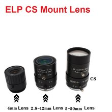 Lente de focagem fixa 4/6/8/12mm cs da lente varifocal 4/12mm do zumbido manual da montagem 2.8-12mm/5-50mm /6-60mm para câmeras do usb da segurança do cctv