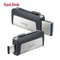 SanDisk Original type c Flash Drive USB 3.0 and 3.1 USB flash drive l usb stick pen drive pendrive 32gb 64gb 128gb Memory Stick