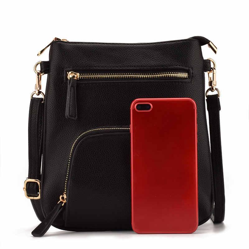 2c5a2d5af328 ... JIARUO Brand Design Small Vertical Front Pocket Slim Women Leather  Crossbody bag Purses Mini Shoulder Messenger ...