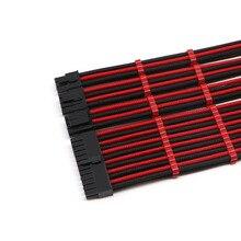 Основной комплект удлинительных кабелей-смешанные цвета с рукавами ATX 24Pin, EPS 4 + 4Pin, PCI-E 6 + 2Pin, PCI-E 6Pin удлинитель питания.
