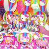 Children Party Articles Kitty Theme Suit Birthday Festival Celebration Articles Cartoon Scene Arrangement