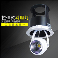 Fanlive 10pc 15W 20W 30W LED Trunk Light Stretchable AC 110V 220V LED Gimbal Light COB Downlight Gimble Lamp Embedded Spot Light