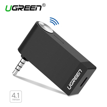 Ugreen Bluetooth Audio Music Receiver 4.1 Wireless Car 3.5mm Bluetooth Adapter AUX Cable Free for Speaker Headphone HandsFree