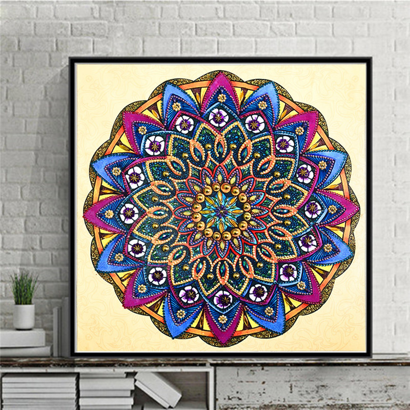 Special shape diamond painting flower DIY 5D part drill cross stitch kit crystal rhinestone art wall decoration mosaic in Diamond Painting Cross Stitch from Home Garden