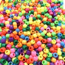 Новые 50 шт 8 мм круглые пластмассовые бусины распорные бусины для самостоятельного изготовления ювелирных изделий браслет ручной работы