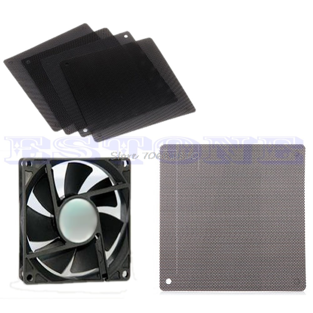 140MM Computer PC Cuttable Dust Dirt Filter Mesh Dustproof Cooler Fan Case Cover -R179 Drop Shipping new arrival 14cmx14cm computer cooling fan filter pvc 140mm pc fan case dust filter strainer dustproof mesh cuttable