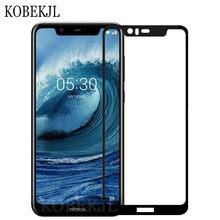 Protetor De tela Nokia X5 Nokia X5 TA-1109 Protetor De Tela de Vidro Temperado Vidro Para NokiaX5 X 5 Cobertura Completa película protetora 5.86