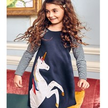 spring 2019 girls dresses in kids with sleeve cotton unicorn girls party dress size 8 princess dresses for little girls vestidos