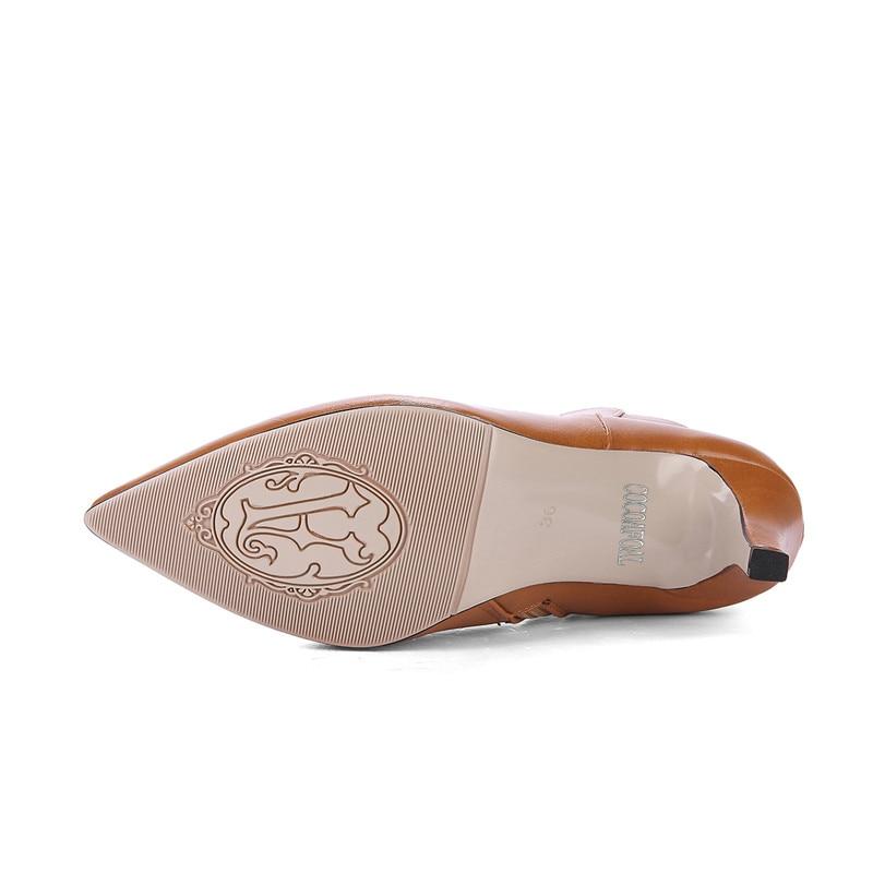 marron Pointu Chelsea Sexy Automne Femmes Bottes Talons Gothique Cheville noir Martin Orteil vert Hiver Chaussures Taille 43 De La 33 Beige Haute Plus Cocoafoal W9EH2ID