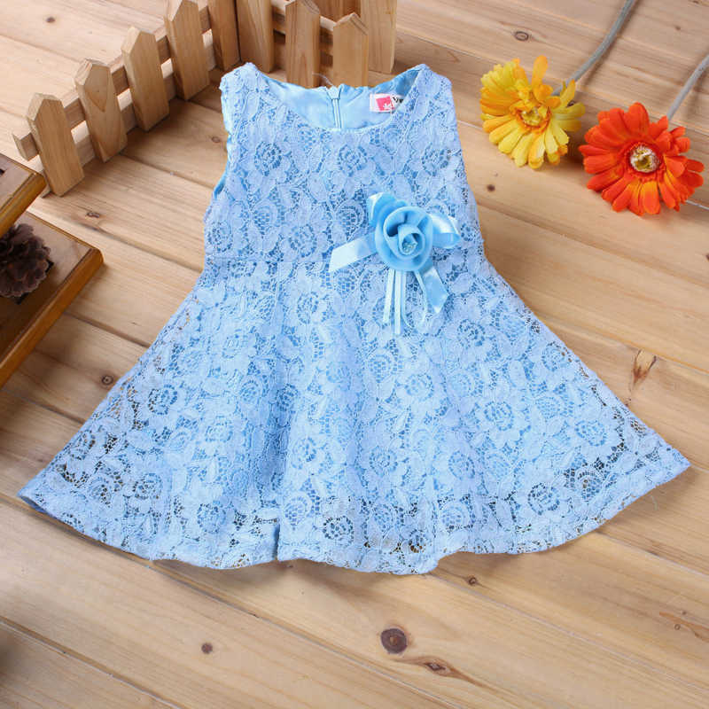 209baa981 0-2 Years New Gift Summer Lace Vest Girls Dress Baby Girl Cotton Dress  Chlidren