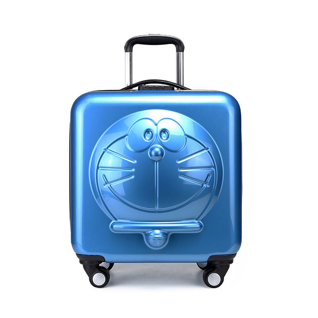 New Children Doraemon Cartoon Luggage 3D  Machine Cat Luggage Rolling Wheels Trolley Suitcase BagNew Children Doraemon Cartoon Luggage 3D  Machine Cat Luggage Rolling Wheels Trolley Suitcase Bag
