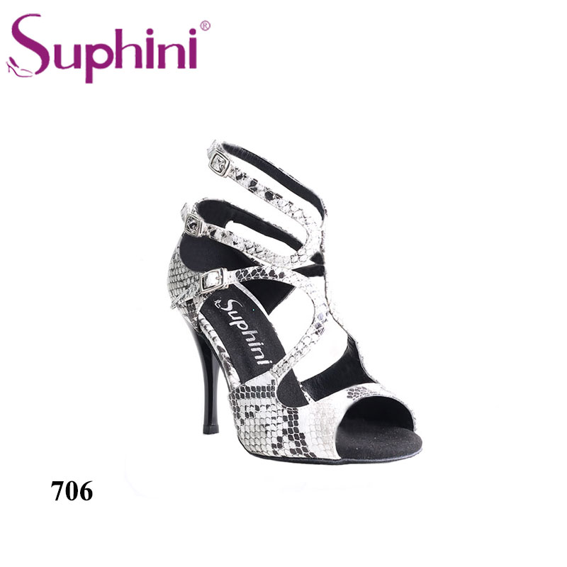 Free Shipping Suphini Dance Shoes Special Snakeskin Print Upper Women Ballroom Tango Dance Shoe free shipping candy color women garden shoes breathable women beach shoes hsa21