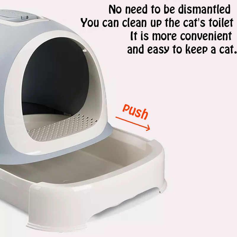 Кот закрытый Жук лоток закрытый кошки песочница постельные принадлежности обучение домашних животных туалеты для домашних животных постельные принадлежности