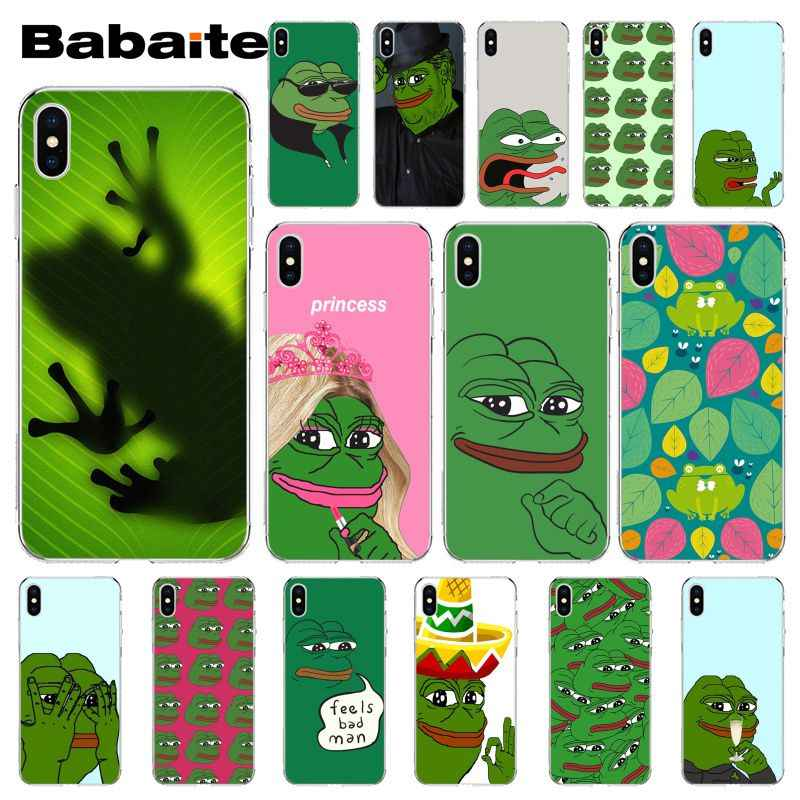 Babaite The Frog Meme Pepe Colorful Cute Phone Accessories Case For Iphone 5 5sx 6 7 7plus 8 8plus X Xs Max Xr