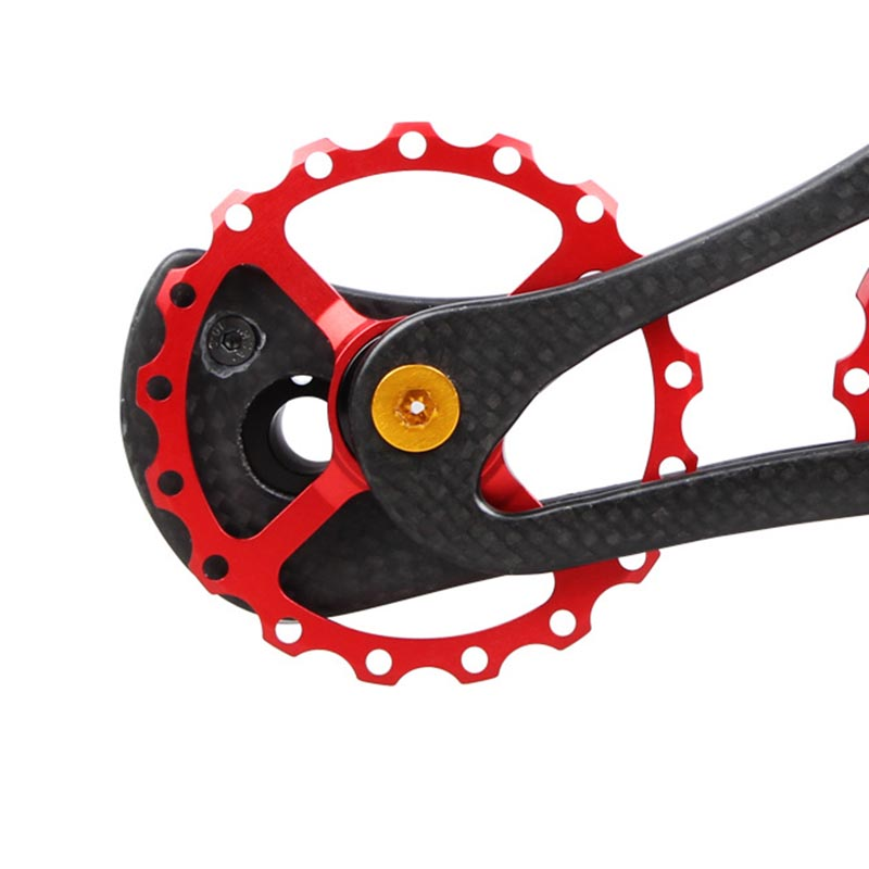 Drivetrain 17T Bike Carbon Ceramic Bearing Wheel Bicycle Rear Derailleur Pulley For 6800 6870 9000 B2Cshop 68g17t carbon fiber ceramic bearing bicycle rear derailleur jockey wheel cycling pulley wheel for shimano6700 67706800 6870 9070